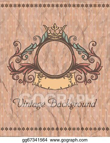 Vector Clipart Decorative Retro Banner And Grungy