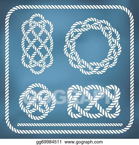 Vector Art - Decorative rope knots  Clipart Drawing