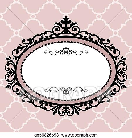 Vector Clipart - Decorative vintage frame. Vector Illustration ...