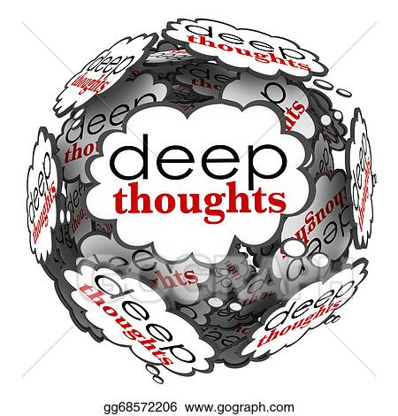 Stock Illustration - Deep thoughts profound important ideas