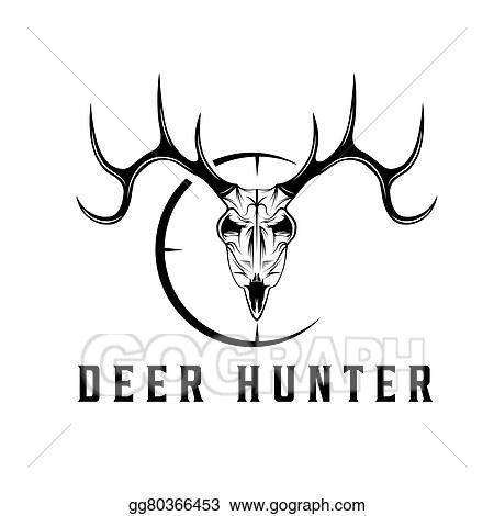Vector Stock Deer Skull With Target Vector Design Template