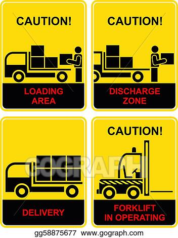 Stock illustration delivery loading area discharge clip art transportation icons loading area discharge zone delivery shipping traffic yellow and black forklift in operating clip art gg58875677 voltagebd Choice Image