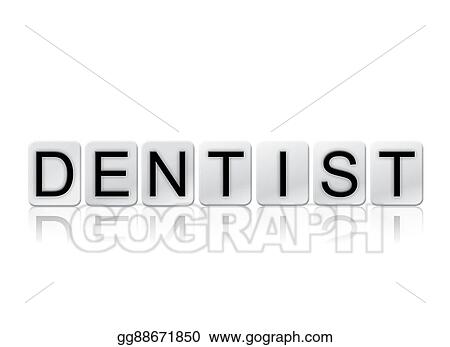 clip art dentist isolated tiled letters concept and theme stock