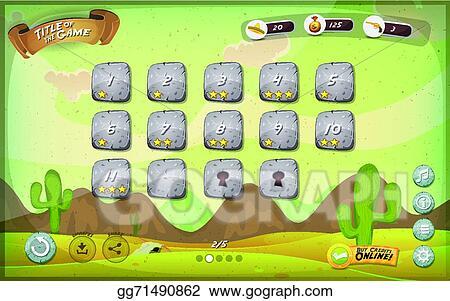 drawing games tablet Vector Art Desert Game User Interface Design For Tablet