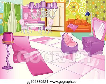 Vector Stock Design Of A Female Boudoir Dressing Table