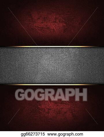 drawings design template red background with a metal nameplate
