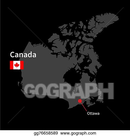 Map Of Canada Eps.Eps Illustration Detailed Map Of Canada And Capital City Ottawa