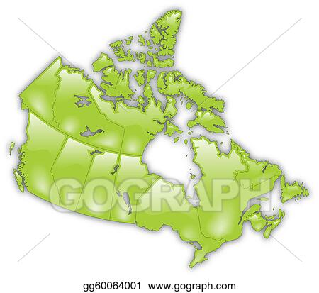 Detailed Map Of Canada.Vector Art Detailed Map Of Canada Eps Clipart Gg60064001 Gograph