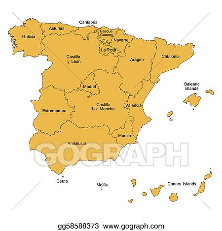 Map Of Spain Drawing.Drawing Detailed Map Of Spain Clipart Drawing Gg58588373 Gograph