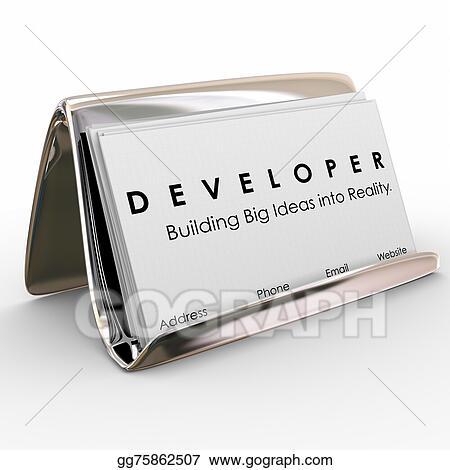 stock illustration developer business cards builder software