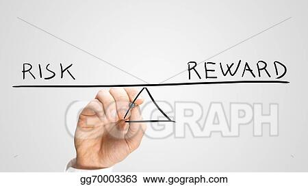 Stock Photos Diagram Of Seesaw Showing Risk And Reward Stock