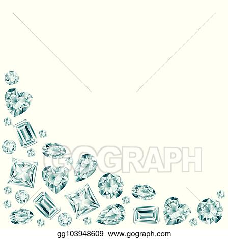 Vector Art - Diamond background  EPS clipart gg103948609