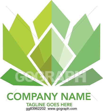 Clip Art Vector - Diamond, bank, flower logo. Stock EPS ...