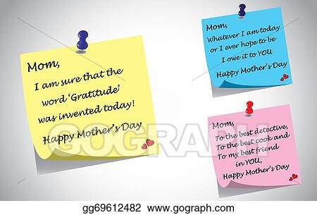 Stock Illustration Different Colorful Happy Mothers Day Quotes