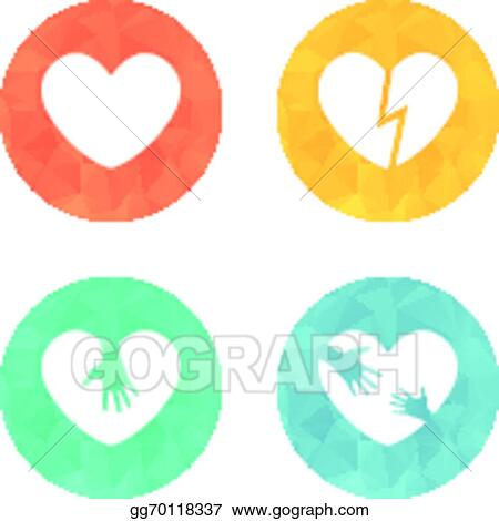 Vector Clipart Different Heart Icons Collection Vector