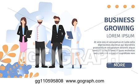 Eps Illustration Different Occupation People Job Fair Flat Banner Vector Clipart Gg110595808 Gograph