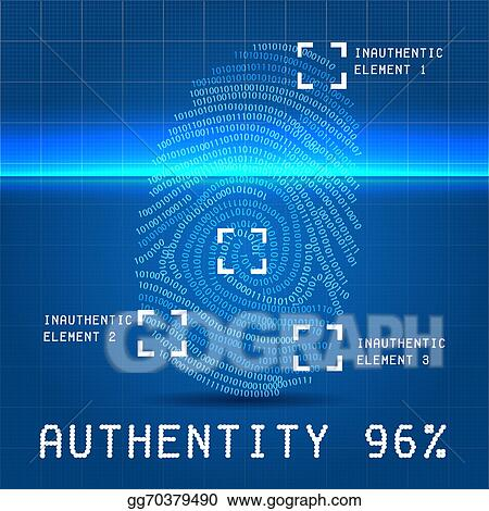 Stock illustration digital authentity finger scan vector stock illustration digital authentity finger scan vector illustration over blueprint paper with inauthentic element clipart illustrations gg70379490 malvernweather Images
