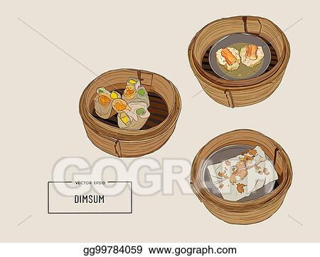 vector clipart dim sum vector illustration of chinese cuisine vector illustration gg99784059 gograph https www gograph com clipart license summary gg99784059