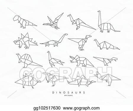 Dinosaur Origami Set, Design & Craft, Craft Supplies & Tools on ... | 375x450
