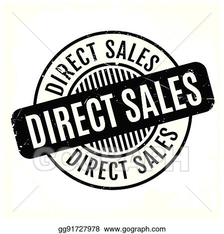 Vector Clipart - Direct sales rubber stamp  Vector