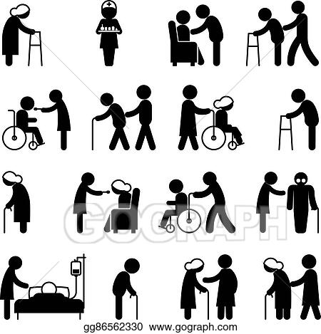 Vector Art Disability People Nursing And Disabled Health