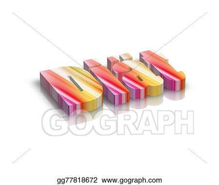 Drawing - Di?t /diet 3d word   Clipart Drawing gg77818672 - GoGraph