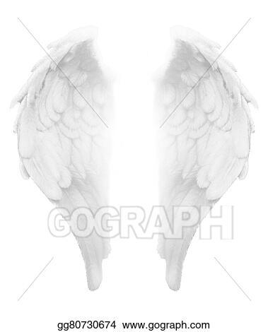 Drawings Divine Light White Angel Wings Stock Illustration Gg80730674 Gograph
