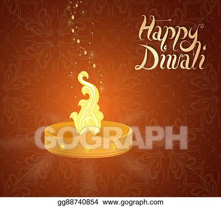 Vector clipart diwali indian festival greeting card vector diwali indian festival greeting card m4hsunfo