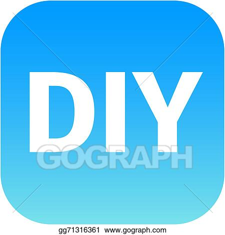 Stock illustration diy blue icon do it yourself clipart diy blue icon do it yourself solutioingenieria Image collections