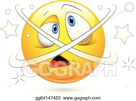 vector clipart dizziness confused smiley face vector illustration rh gograph com Dazed and Confused Clip Art Dazed and Confused Clip Art