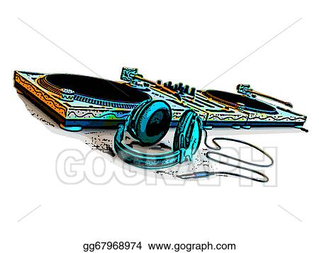 Drawings Dj Turntable Stock Illustration Gg67968974 Gograph