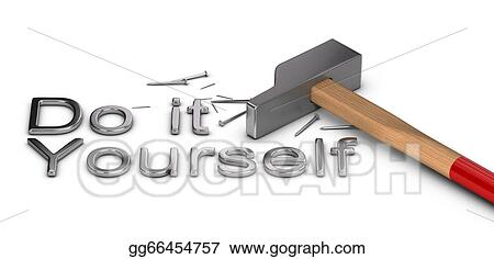 Stock illustration do it yourself clipart illustrations stock illustration word do it yourself written with metal letters one hammer and some nails over white background clipart illustrations gg66454757 solutioingenieria Images