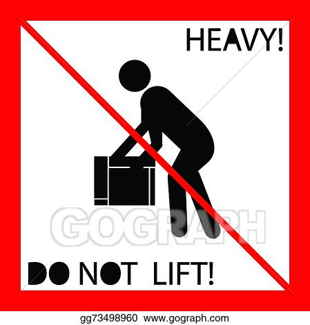 Vector Stock Do Not Lift Heavy Weight Symbol Clipart Illustration
