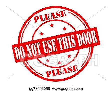 vector art do not use this door eps clipart gg73496058 gograph rh gograph com Listening Clip Art User Clip Art