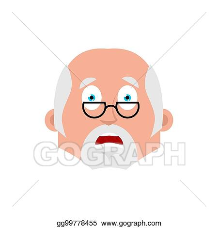 Vector Stock - Doctor scared emotion avatar  physician fear