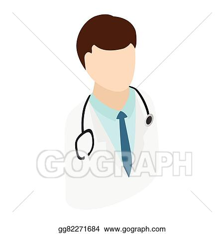Vector Stock Doctor With Stethoscope Clipart Illustration