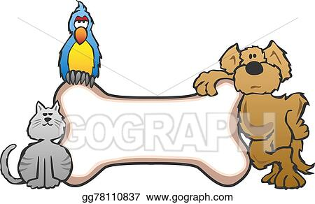 Vector Stock Dog Bird And Cat Pet Sign Clipart Illustration Gg78110837 Gograph