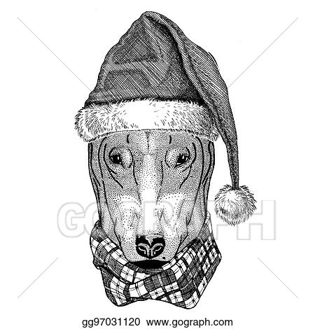 dog for t shirt design wearing christmas hat new year eve merry christmas and happy new year zoo life holidays celebration santa claus hat