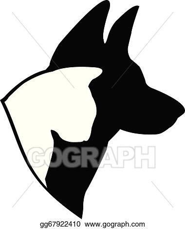 vector stock dog german shepherd and cat logo clipart rh gograph com german shepherd logos on sweatshirts and tees