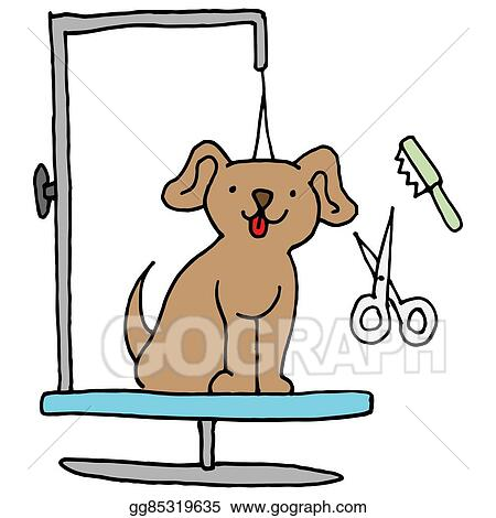 vector clipart dog grooming table vector illustration gg85319635 rh gograph com dog grooming clip art free dog grooming clipart