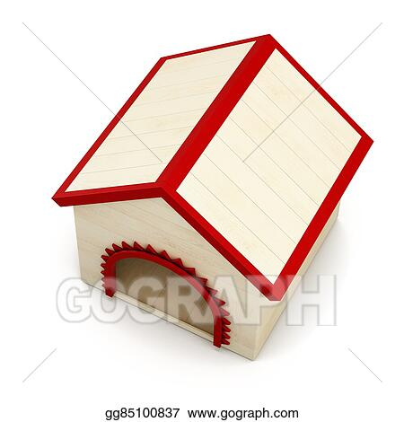 Clip Art Dog House Isolated On White Background Top View