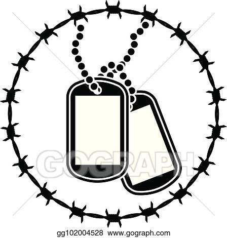 Vector Art Dog Tags And Barbed Wire Second Variant Eps