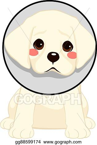Vector Art - Dog with cone  Clipart Drawing gg88599174 - GoGraph