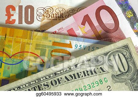 Dollar Franc Euro Pound Currency From Usa Europe Swiss England