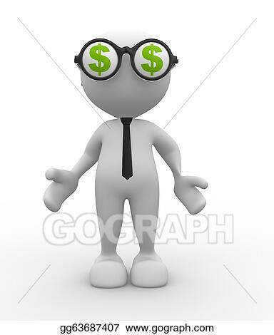 Clipart - Dollar sign  Stock Illustration gg63687407 - GoGraph