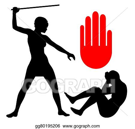 stock illustration domestic violence against men clip art rh gograph com domestic violence clip art cycle of abuse domestic violence awareness ribbon clipart