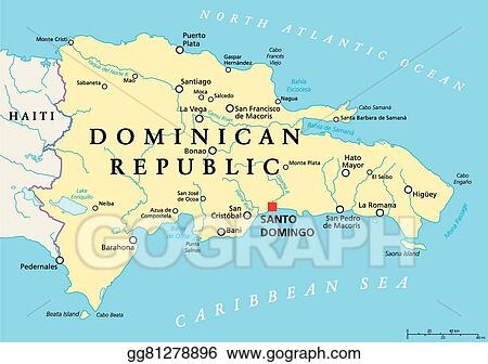 Vector Illustration - Dominican republic political map ... on paraguay cities map, rhine river cities map, barbados cities map, trinidad cities map, senegal cities map, bahamas cities map, guam cities map, antarctic cities map, luxembourg cities map, south sudan cities map, serbia cities map, western asia cities map, slovakia cities map, united states of america cities map, latvia cities map, belarus cities map, newfoundland and labrador cities map, nova scotia cities map, chad cities map, tibet cities map,