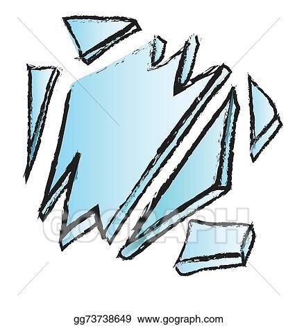 stock illustration doodle broken glass illustration clipart rh gograph com broken glass window clipart broken drinking glass clipart