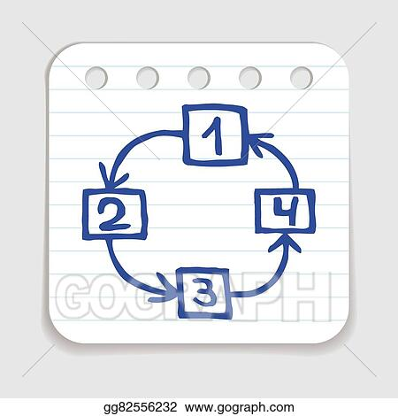 Vector Art Doodle Flow Chart Icon Clipart Drawing Gg82556232