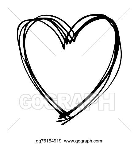 Vector Art Doodle Heart Eps Clipart Gg76154919 Gograph